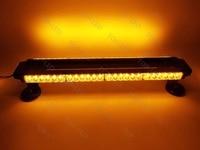 CYAN SOIL BAY 2654LED 162W Emergency Hazard Warning Double Side Strobe Light Bar Amber Yellow