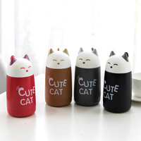 Cute Cat Stainless Steel Thermo Water Bottle Child Seal Insulation Bottle Creative Girls Couple Portable Hands