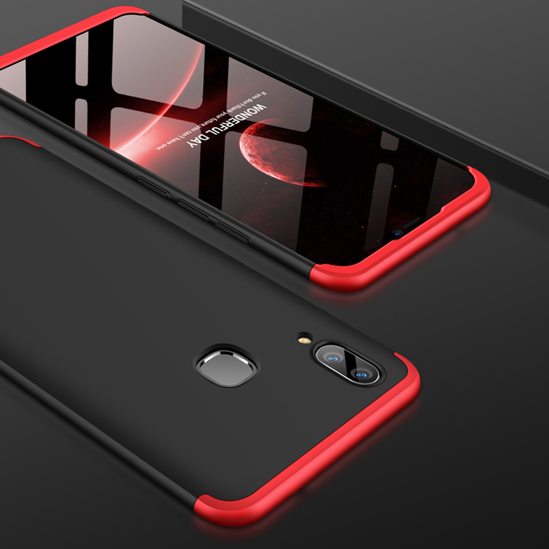 VIVOX21 360 Degree Full Protection Hard Case For Vivo x21 Back Cover shockproof case For VIVO X21 X 21 case glass 6 28 39 39 in Fitted Cases from Cellphones amp Telecommunications