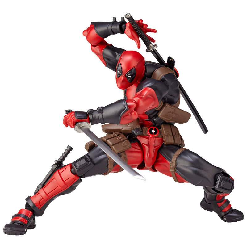 16cm X-men Deadpool Figure Figurine Variant Movable Super Heroes Action Figures Dead Pool With Weapons Brinquedos Kids Diy Toys