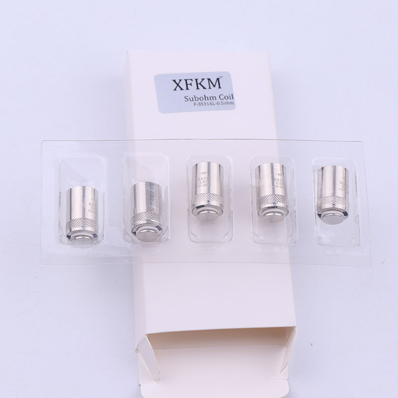XFKM 5pcs Replacement BF Coils Head SS316 0.5ohm 0.6ohm 1.0ohm For EGo Bf AIO Tank RTA RDA Electronic Cigarette Accessories Vape