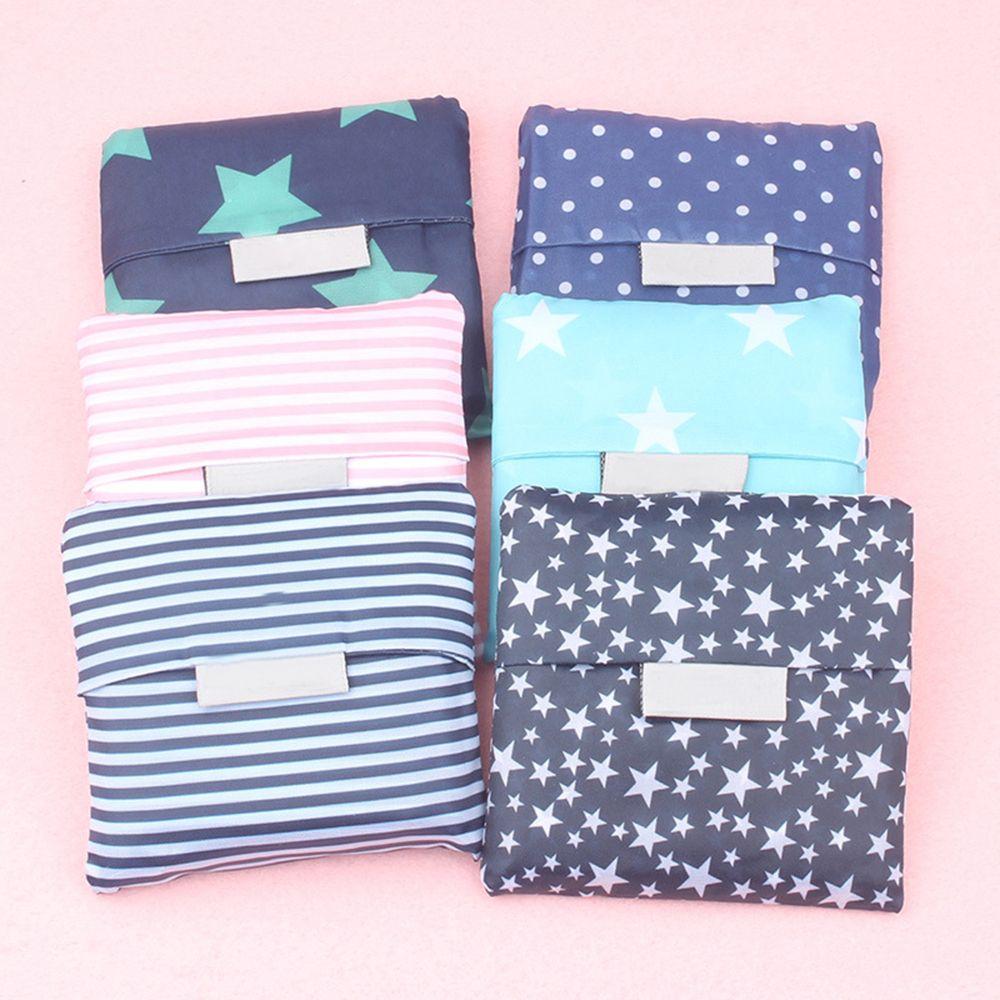 купить 6 style Fashion printing foldable green shopping bag Tote Folding pouch handbags Convenient Large-capacity storage bags по цене 85.68 рублей