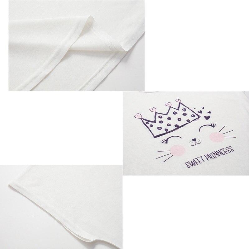 YZ Women T shirt 2019 Summer New Femme Top Lovely Cat Printed Short Sleeve Loose Feminino T shirt in T Shirts from Women 39 s Clothing