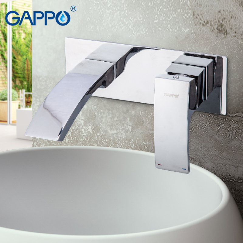 GAPPO Basin Faucet wall mounted bathroom sink faucet waterfall basin taps Water mixer shower mixers tap Sanitary Ware Suite