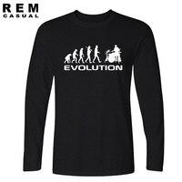 Для мужчин s футболка Бодибилдинг майку Фитнес Для мужчин Drummer Эволюция Забавный музыка Юмор Барабаны футболка с длинным рукавом футболки