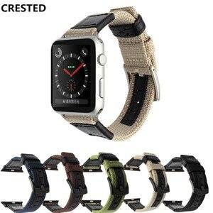 Тканевый кожаный ремешок для Apple Watch band apple watch 5 4 3 band 44 мм/40 мм iwatch 5 42 мм/38 мм плетеный нейлоновый браслет ремешок для часов