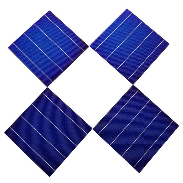Solar Cell 6×6 20pcs 80W A Grade 4 Bars 4.3W DIY Solar Panel 156x156mm Polycrystalline Solar Cells Price