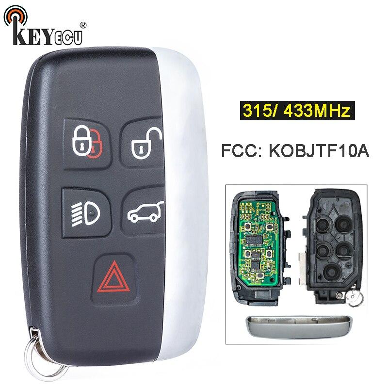 KEYECU 315/ 433 МГц FCC, аддитивного цветового пространства KOBJTF10A Замена 5 кнопки дистанционного ключа брелок для Jaguar XF XJ XK XE F-Тип со словом на одной ...