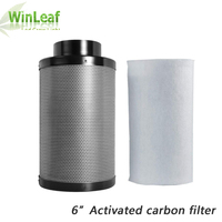 plant light 6 Inch HIGH EFFICIENT Activated Carbon Air Filter Set For Indoor Hydroponics Greenhouses Grow Tent Light