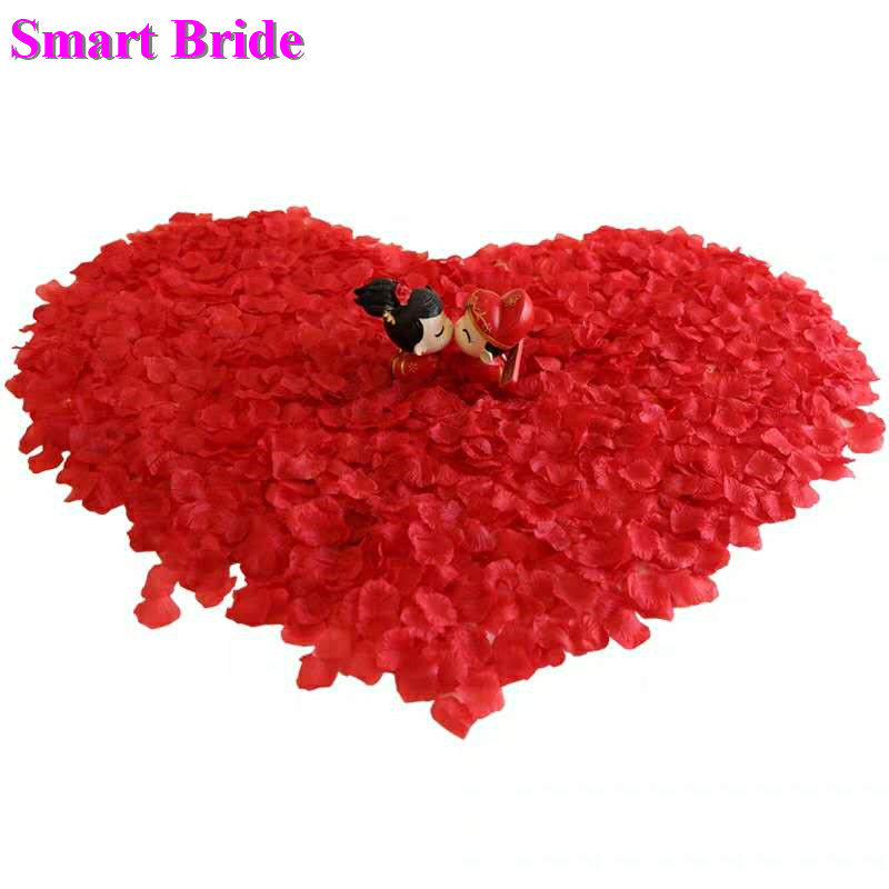 Wedding Rose Petals Red Pink Flower Party Decoration Accessories White Purple De Mariage Artificial Fake Petal 1000 Pcs