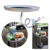 Conveniente Coche PC Plástico Clip de Montaje Giratorio Del Sostenedor Del Soporte De Mesa de Viaje para la Comida y la Bebida Bandeja Estable E # A3