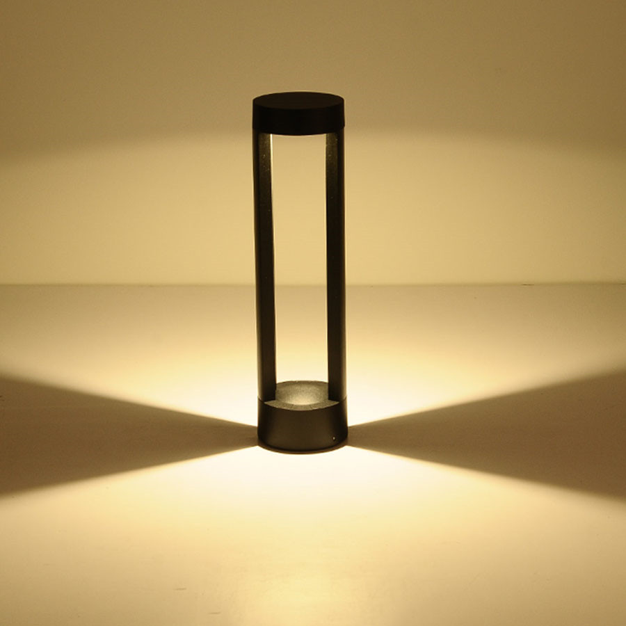 BEIAIDI 40/60 cm Moderna A LED per Esterni Parco Patio Giardino Prato Luce Impermeabile 2 di Alluminio Colonna Comunità Parco Pathway della Lampada - 2