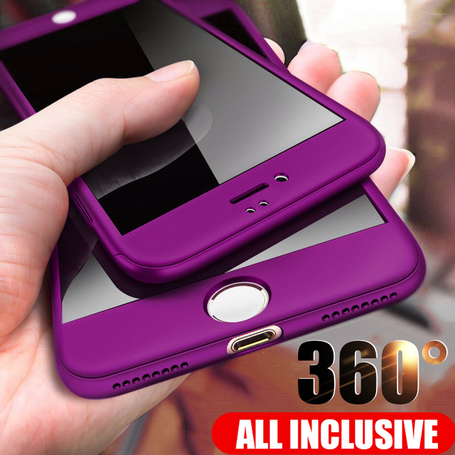 ZNP 360 Full Protective Phone Case For iPhone 8 7 Plus 6 6s Case 5 5S SE X 10 Full Cover For iPhone XR Xs Max X Cases With Glass