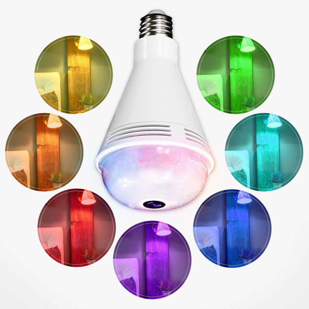 AKDSteel E27 Wi-Fi capteur de lumière moniteur ampoule Bluetooth SMD5050 ampoule de musique avec caméra de surveillance à distance lampe décorative