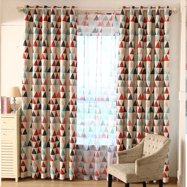 Triangles Nordic Style Curtains