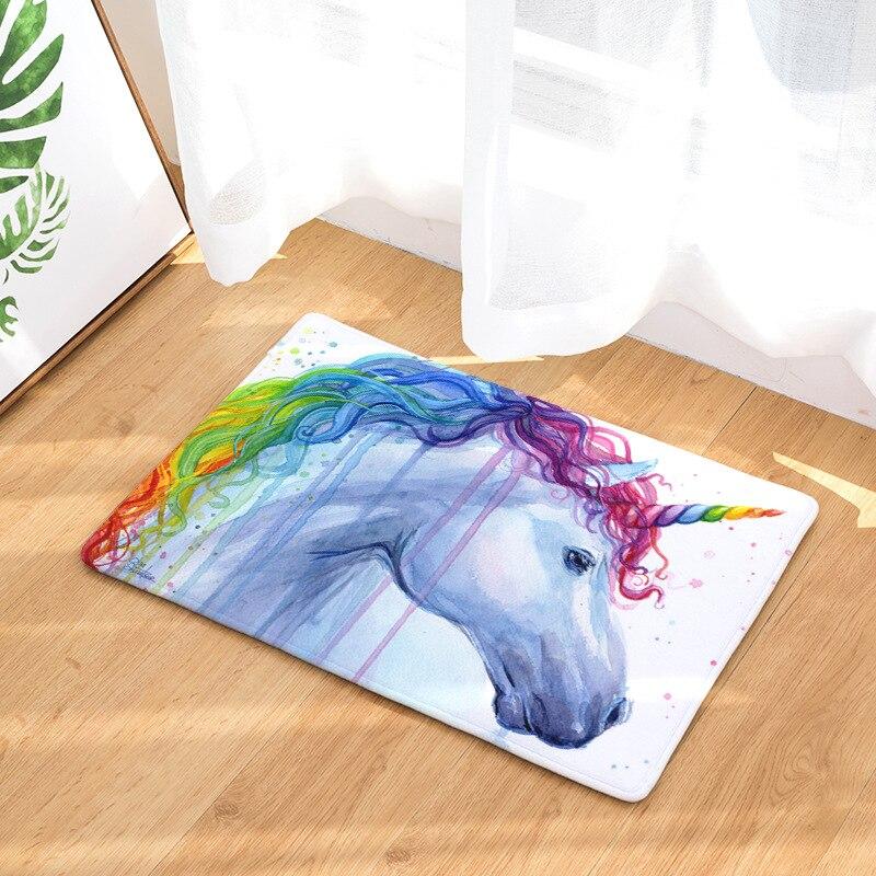 Bedroom Carpet Online Toddler Bedroom Door Gate Bedroom Ceiling Design 2017 Elephant Bedroom Decor: Creative Color Horse Zebra Unicorn Design Floor Mats For