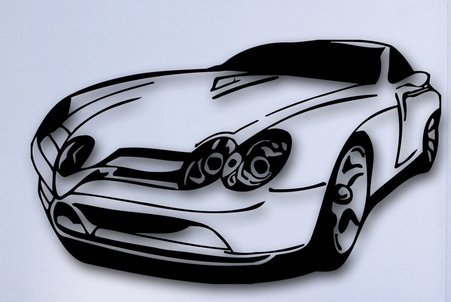 Sports Car Wall Sticker Garage Rally Sports Race Car Mural Wall Sticker  Boys Room Bedroom Car Part 94