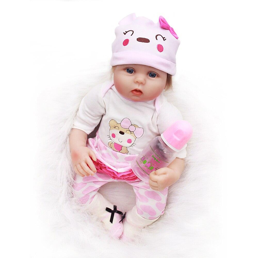"OtardDolls Reborn Doll 20"" Reborn Baby Doll Lifelike Soft Vinyl Silicone Doll bonecas Children Birthday Gifts (Cat Pattern)"