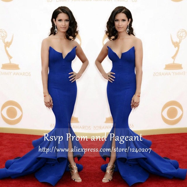 35fb21665fde Long Prom Dresses 2017 Elegant Mermaid Style Off The Shoulder Sweetheart  Neckline Satin Royal Blue Prom Dress