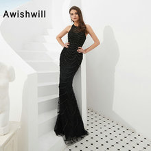 Awishwill 2019 Mermaid Prom Dresses Sleeveless Party Dress