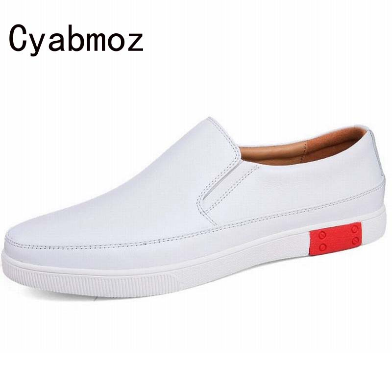 Hot Top Quality New 2017 Handmade Men Shoes Genuine Leather Man Loafers Casual Oxfords Men Flats Business Dress Office Shoes cyabmoz 2017 flats new arrival brand casual shoes men genuine leather loafers shoes comfortable handmade moccasins shoes oxfords