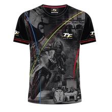 2019 MOTO GP TT racing isle of man tt races custom printed t shirt Men's Summer Mountain Course T Shirt enduro motocross недорого