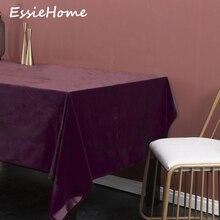 ESSIE HOME Plum Purple Bordeaux Red Single Side Matte Velvet High End Velvet Table Cloth Table Linen Wedding Decoration Placemat purple velvet