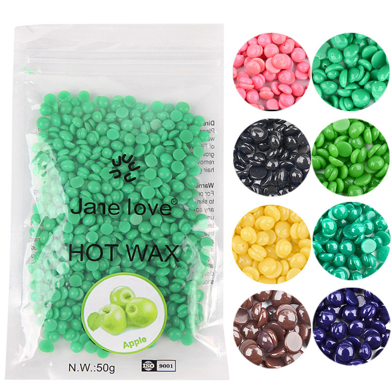 50g/bag No Strip Depilatory Hot Film Hard Wax Pellet Waxing Bikini Hair Removal Bean Beads For Face Leg Body Hair Remover