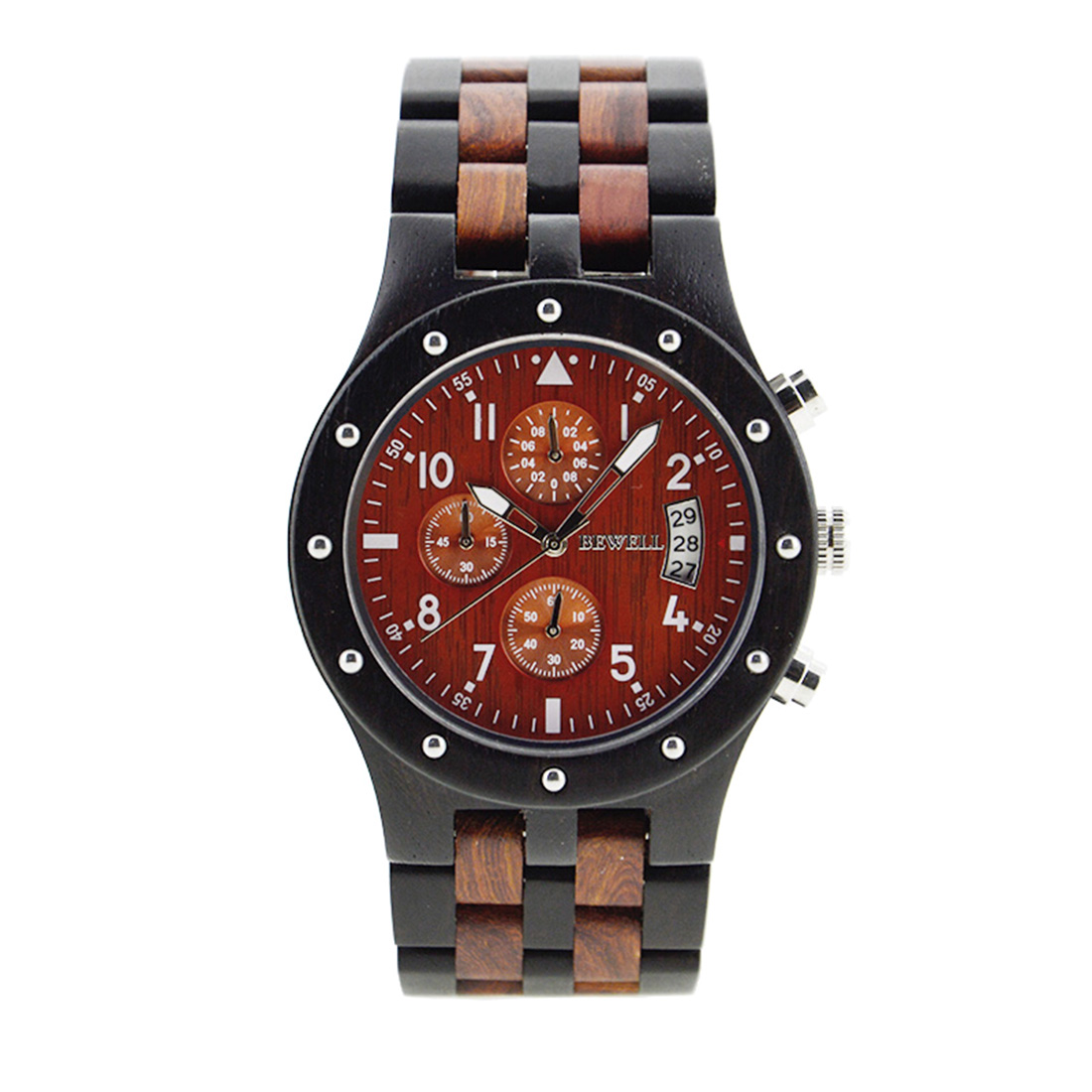 Black Men Wrist Watch Sandalwood Quartz Wood Watches Luxury Business Formal Date Display Clock New Fashion Relogios Masculinos