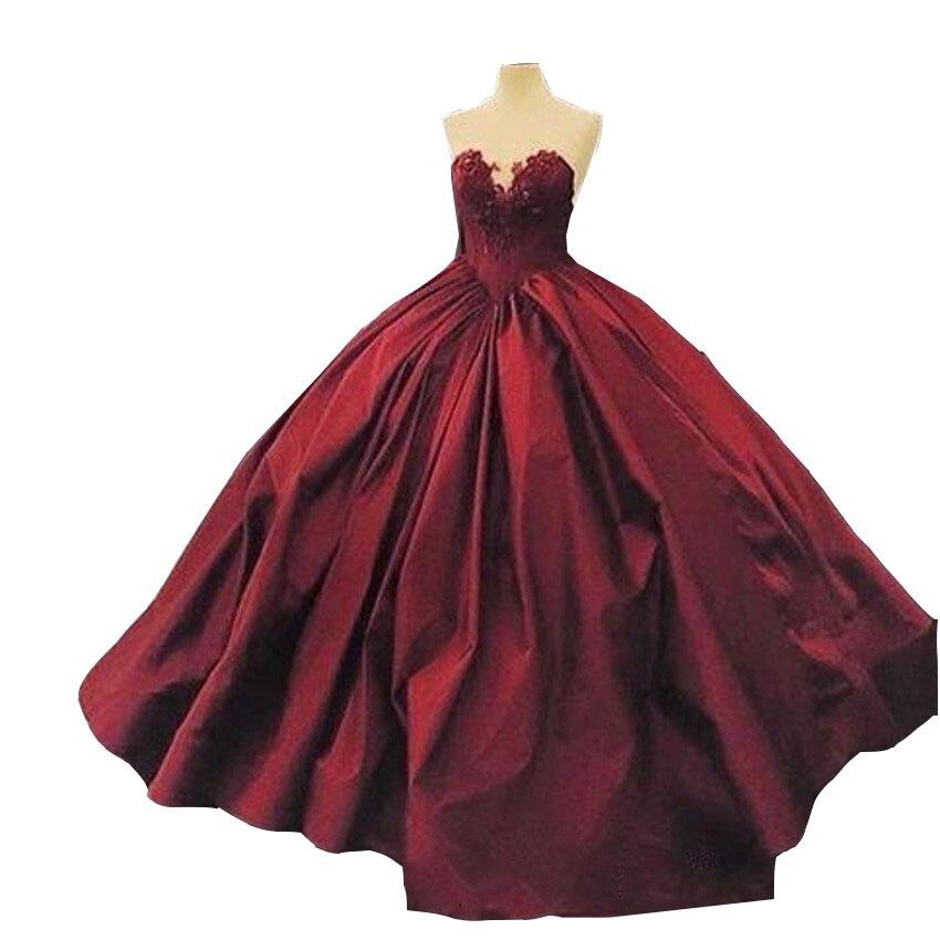 2017 bourgogne Quinceanera robes robe de bal chérie à lacets longueur de plancher robes Satin Appliques Vintage longues robes de bal