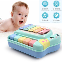 Baby Piano percussion instruments Toy Infant Toddler Developmental Toy Plastic Kid Musical Piano Early Educational  Musical Toy цена и фото