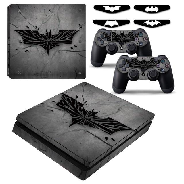 Batman arkham knight logo ps4 slim vinyl skin decal sticker cover for playstation 4 slim console