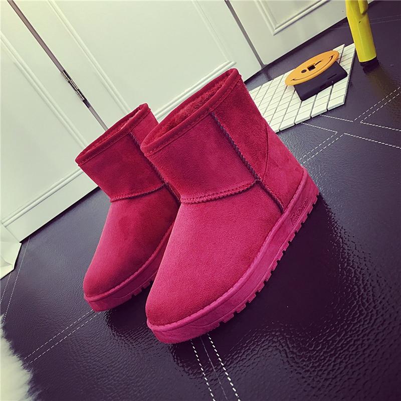 2018 Winter Female Flat with Non-slip Boots Snow Boots Fashion Ankle Boots Large Size Women Boots Plus Velvet Warm Cotton Shoes dynarex cotton ball large non sterile 1000 count