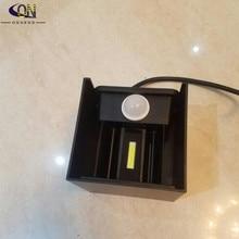 ONDENN 6 Вт 9 Вт 12 Вт радар датчик движения светодиодный настенный светильник квадратный куб регулируемый светодиодный настенный светильник Внутреннее и наружное освещение поверхностное крепление