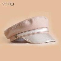 YIFEI 2018 New Fashion Parent Child Sun Hat Woman Men Summer Baseball Cap Newsboy Hat British