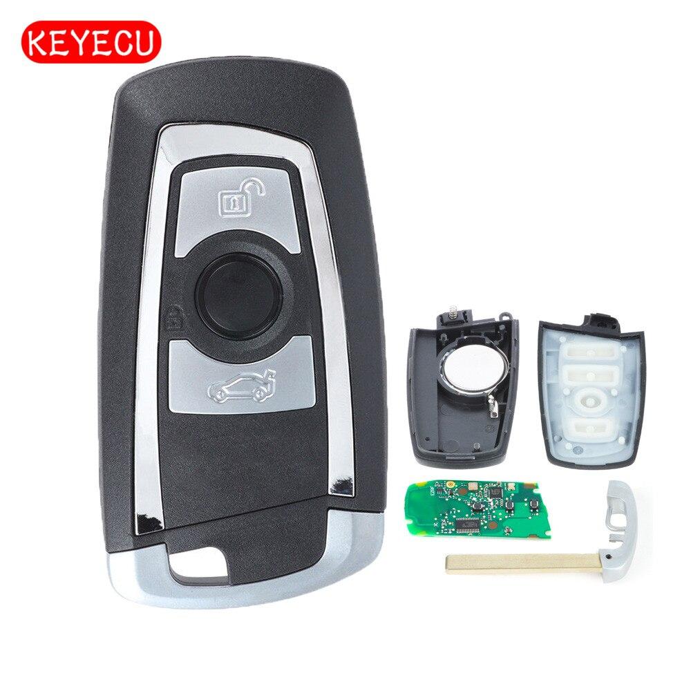 Keyecu Intelligent À Distance Clé Fob 3 Bouton 315 mhz/433 mhz/868 mhz PCF7953/49 Puce pour BMW FEM/BDC CAS4 CAS4 + 2011-2017