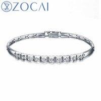 ZOCAI Brand New Design Diamond Bracelet Real certificated 0.40 CT Diamond 18K white gold party and gift bracelet