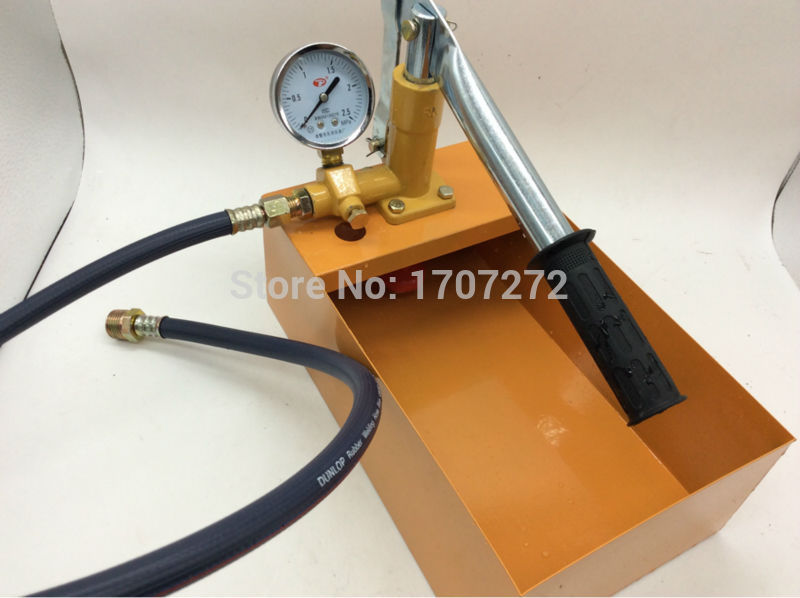 The plumber tools manual pressure test pump Water pressure testing hydraulic pump 2.5mpa/25kg sy 40 water pressure testing pump portable plumber tools manual pressure test pump