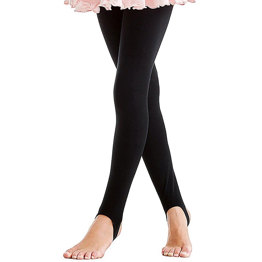 Girls Kids Ballet Dance Stirrup Tights Stretch Gymnastics Pants Jogging Yoga Dance Trousers Sports Dancing Socks Fitness Legging