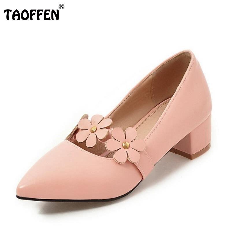 Plus Size 31-47 Vintage Women Square Medium Heel Shoes Ladies Flowers Pointed Toe Women Heeled Pumps Fashion Casual Shoes Women selens pro 100x100mm 12nd square medium