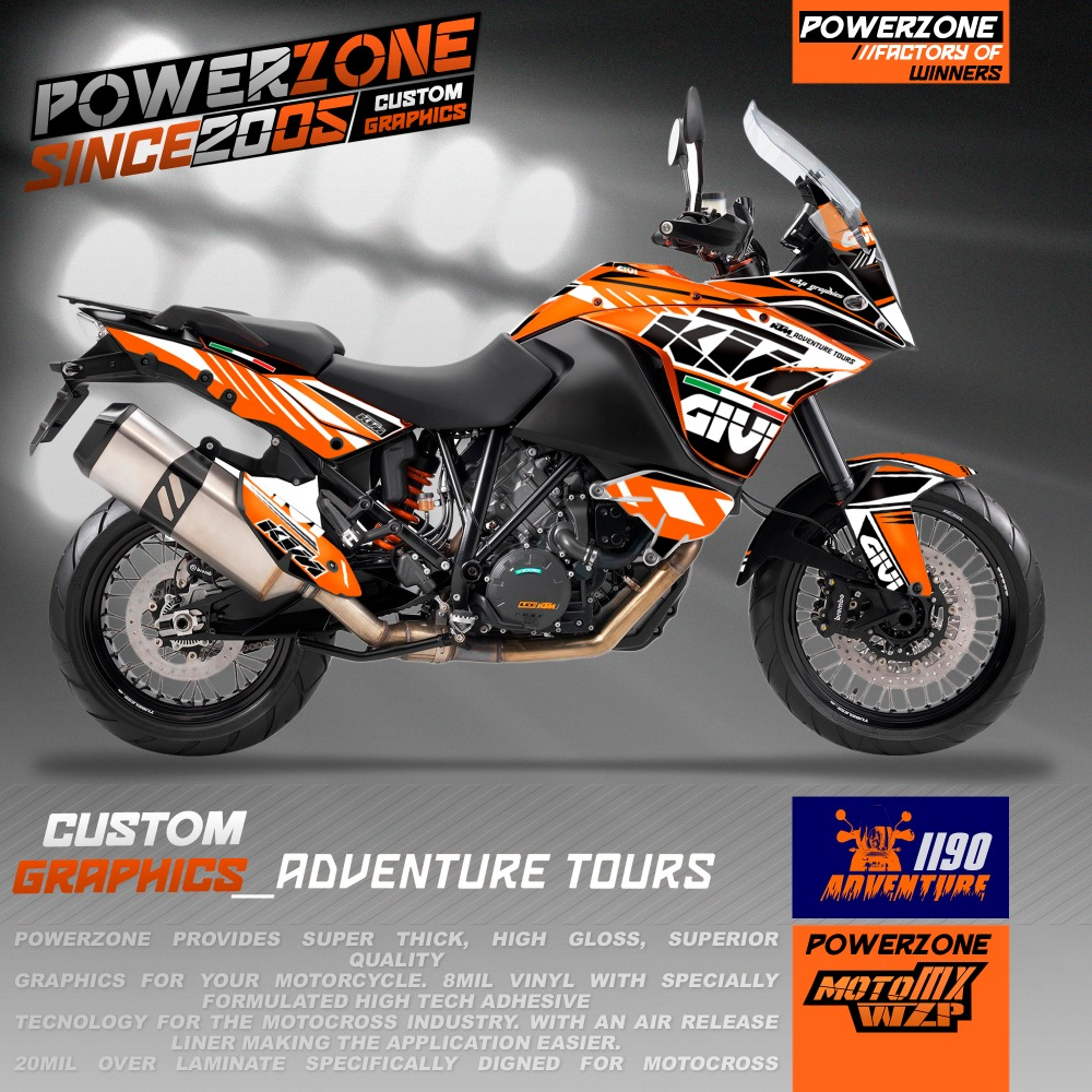 Detail feedback questions about customizable team graphics backgrounds decals 3m stickers rock style kits for ktm adv adventure 1190 on aliexpress com