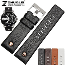 New arrivals High quality rivet watch strap genuine leather bracelet for DZ7271 DZ7312 men's watchband 22mm 24mm 26mm 28mm 30mm