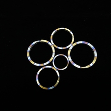 18mm/25mm/28mm/32mm Titanium EDC Light Key Ring (Many styles No magnetic skin-friendly) Flame Pattern Keychain