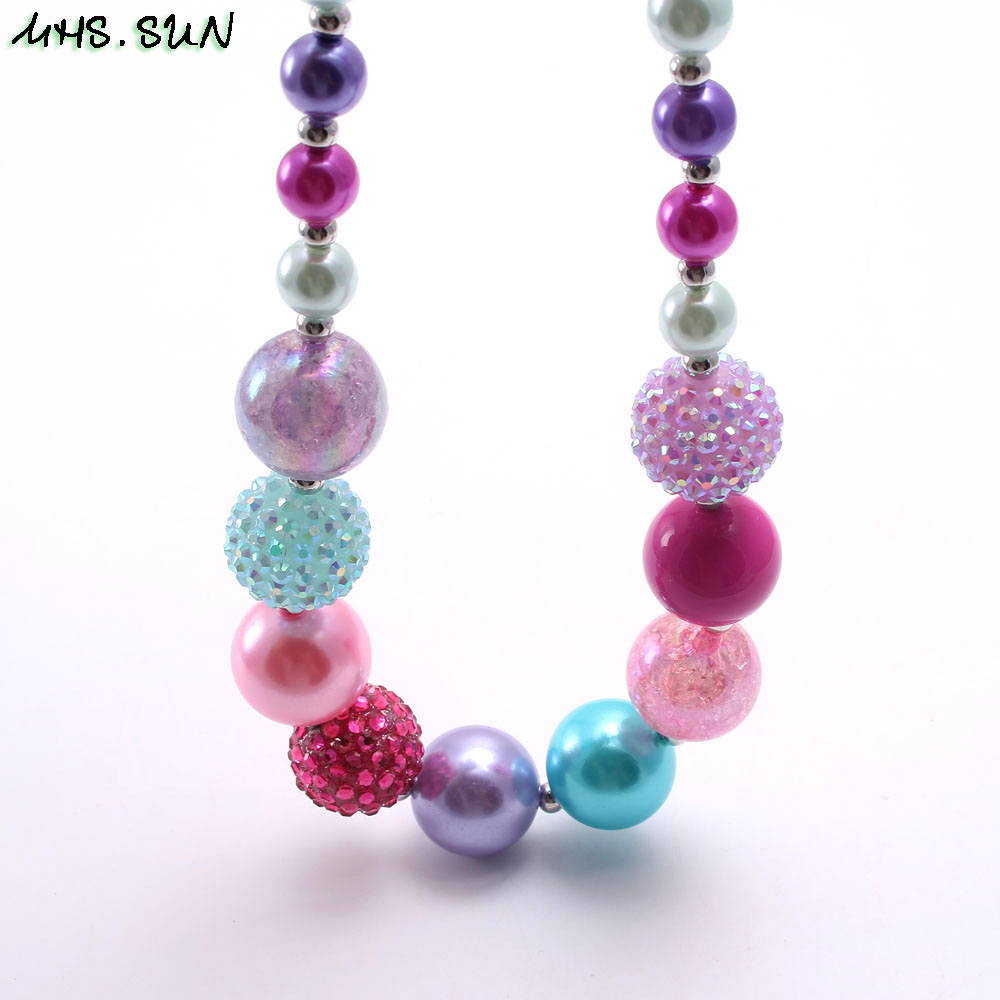 BN547-1 (4),$2.3. child chunky beads necklace colorful girls bubblegum necklace handmade jewelry for kids toy gift 1pcsJPG