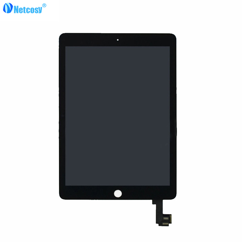 Netcosy High quality LCD display+Touch screen For iPad Air 2 A1567 A1566 LCD Screen assembly Replacement parts for ipad 6 pcu p247a high pressure bars for lq104s1lg61 lcd display screen