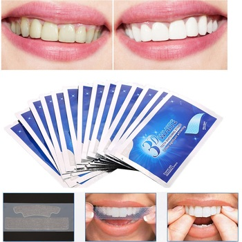 1 bag 3D White Gel Tooth Whitening Strips Oral Hygiene Teeth Cleaning Dry Dental Bleaching Strip Daily Life Easy To Use TSLM2 1