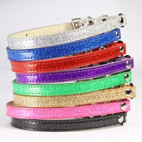 12-pieces-lot-colorful-glitter-pu-leather-material-small-big-fat-cat-necklace-with-bells-and-elastic-cat-collar-s-m-l