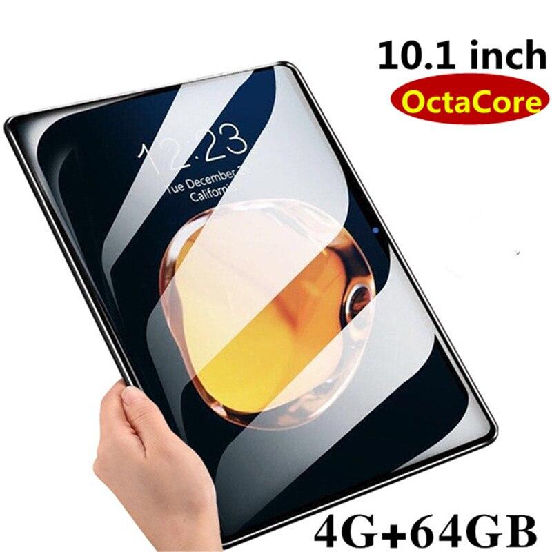 2019 novo 10.1 polegada 3g 4g lte tablet pc octa núcleo 4 gb ram 64 gb rom 1920*1280 ips 2.5d vidro temperado 10 comprimidos android 8.0 + presentes