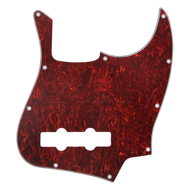 Yibuy Faux TORTOISE SHELL JB Bass Pickguard 3Ply For Electric Bass