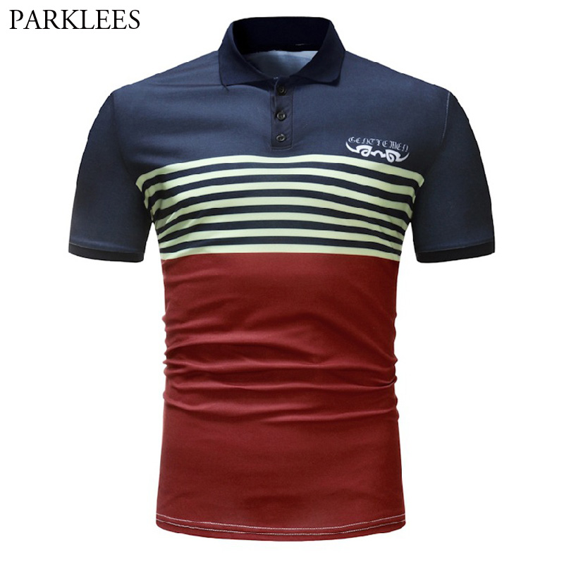 Striped   Polo   Shirt Men 2018 Brand New Slim Fit Short Sleeve Camisa   Polo   Masculina Summer Breathable Casual Mens   Polos   Shirts 3XL